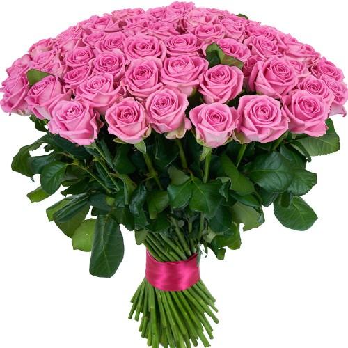 Купить на заказ Букет из 101 розовой розы с доставкой в Хромтау