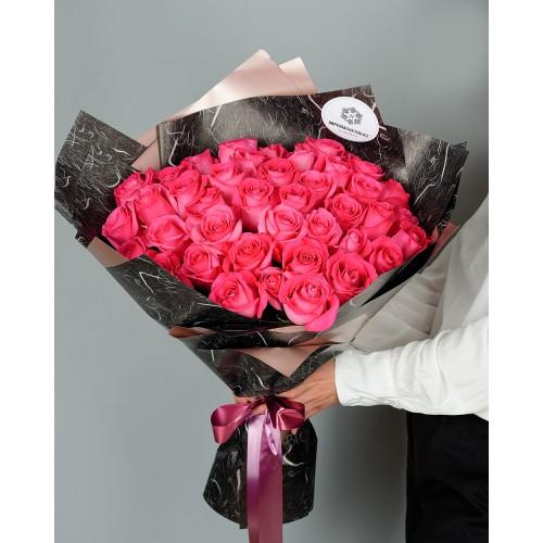 Купить на заказ Букет из 51 розовых роз с доставкой в Хромтау