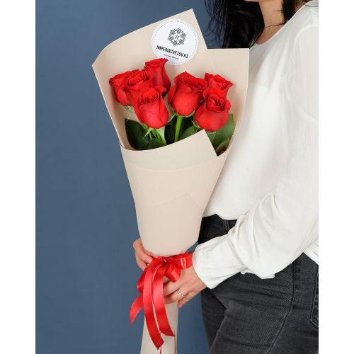 Купить на заказ Букет из 7 роз с доставкой в Хромтау